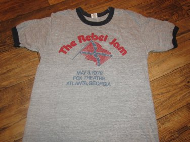 The Rebel Jam Vintage 1978 Capricorn Records Stillwater Dixie Dregs Southern Rock Ringer Shirt