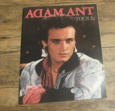 Vintage ADAM ANT 1984 Concert Tour Program Tourbook FREE SHIPPING