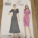 Very Easy Vogue Pattern V8765 Misses' Dress Size  8,10,12,14,16  UNCUT