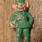 1950's Plastic Leprechaun Pin St. Patrick's Day Brooch St. Paddy's Jewelry FREE SHIPPING