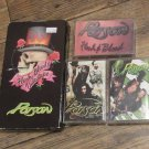 POISON Brett Michaels Lot 3 Cassettes ,Vhs Flesh ,Blood & Videotape