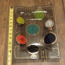 Mid-Century Modern Vintage Higgins Fused Art Glass Large Pocket Watch Ashtray FREE SHIPPING