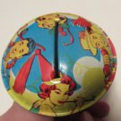 Vintage New Years Tin Noise Maker Couples Design Redhead
