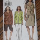 Vogue V8208 Womens Safari Jacket Pants Skirt Shorts Sewing Pattern Sz 20.22.24 Uncut