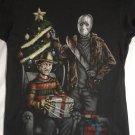 CHRISTMAS SLASHER HORROR T-Shirt Nightmare on Elm Street Freddy Krueger Jason Size LARGE