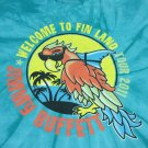 Jimmy Buffett Welcome to Fin Land 2011 Concert Tour Tie Dye T-Shirt Men's MEDIUM FREE SHIPPING