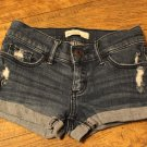 Abercrombie Kids Girls size 14 Jean Shorts Distressed Denim Medium Blue FREE SHIPPING