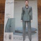 Vogue 2162 Sew Pattern Oscar De La Renta Power Jacket Pant Suit 8-12 FREE SHIPPING