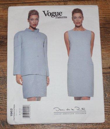 Vogue 1962 Oscar De La Renta Formal Dress Jacket Sewing Pattern