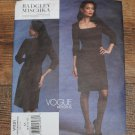 Vogue V1121 Misses Badgley Mischka Dress/Belt Size 6-12 FREE SHIPPING