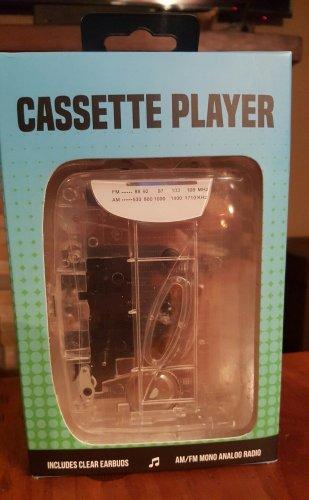 Portable Cassette Player  Tape & AM/FM Radio  Audio Music Includes