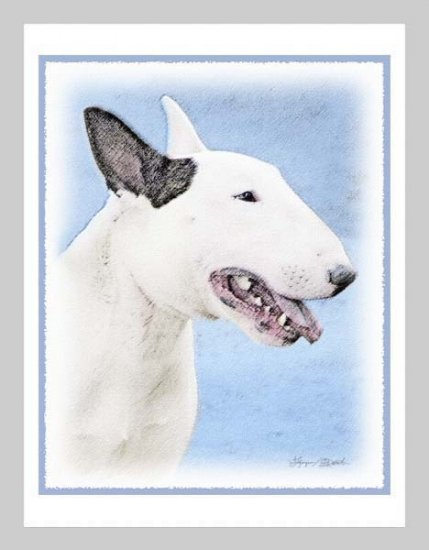 6 Bull Terrier Note or Greeting Cards