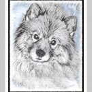"6 Keeshond Note or Greeting Cards """"Beth"""""