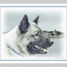 6 Norwegian Elkhound Note or Greeting Cards