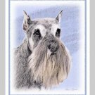 6 Schnauzer Note or Greeting Cards