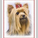 6 Yorkie Yorkshire Terrier Note or Greeting Cards