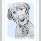 6 Irish Wolfhound Note or Greeting Cards