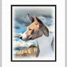 Basenji Dog Art Print Matted 11x14