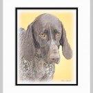 German Shorthaired Pointer Dog Art Print Matted 11x14