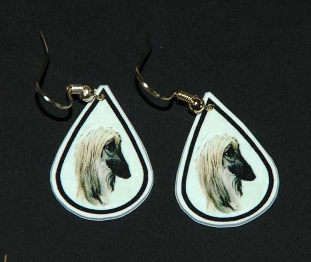 Afghan Hound Dog Earrings Jewelry Handmade