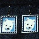 American Eskimo Puppy Dog Jewelry Earrings Handmade