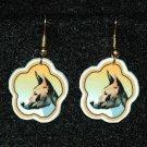 Basenji Basenjis Earrings Handmade