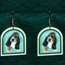 Basset Hound Puppy Dog Earrings Jewelry Handmade