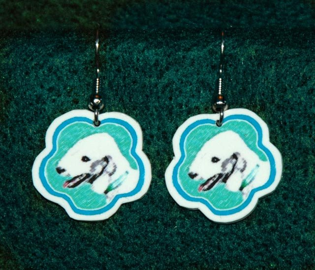 Bedlington Terrier Dog Jewelry Earrings Handmade
