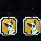 Boston Terrier Jewelry Earrings Handmade