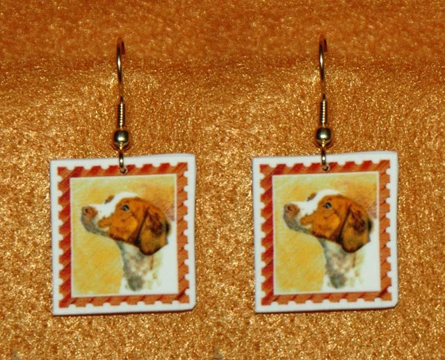 Brittany Spaniel Jewelry Earrings Handmade