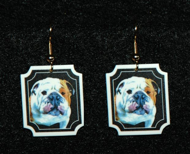 Bulldog Jewelry Earrings Handmade