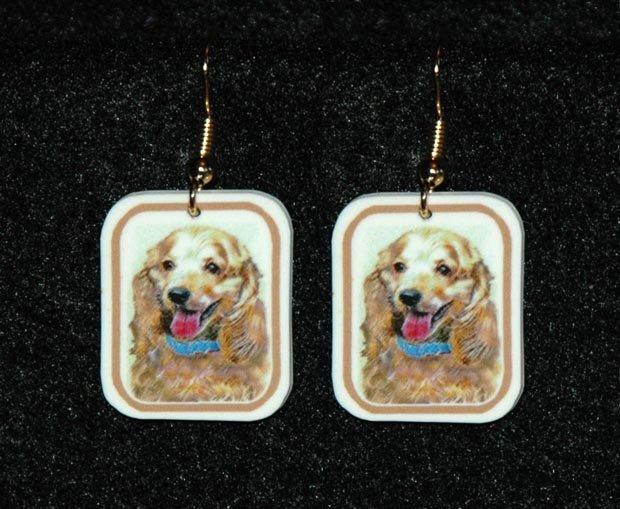 Cocker Spaniel Buff Jewelry Earrings Handmade