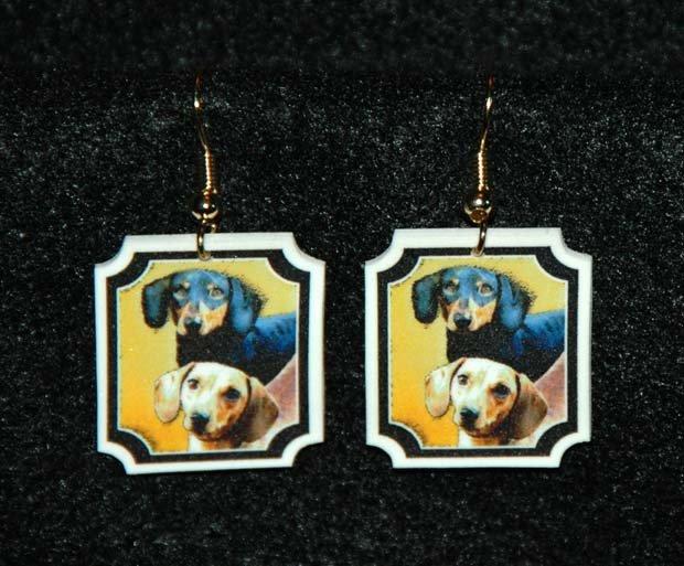 Dachshund Earrings Jewelry Handmade