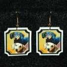 Dachshund Earrings Jewelry Handmade