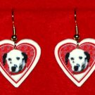 Dalmation Dog Heart Earrings Jewelry Handmade