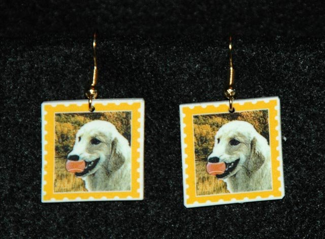 Golden Retriever Earrings Handmade