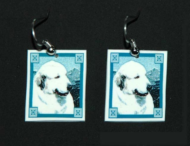 Great Pyrenees Dog Earrings Handmade