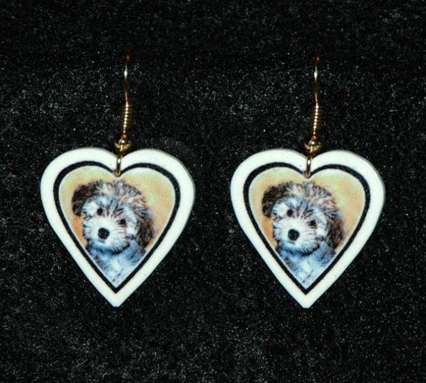 Havanese Puppy Jewelry Earrings Handmade