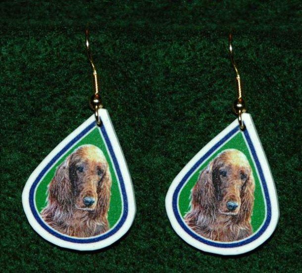 Irish Setter Jewelry Earrings Handmade