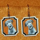 Irish Wolfhound Puppy Dog Jewelry Earrings Handmade