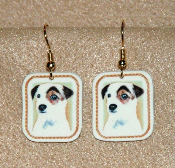 Jack Russell Terrier Dog Jewelry Earrings Handmade