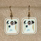 Jack Russell Terrier Dog Jewelry Earrings Handmade
