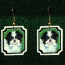 Japanese Chin Dog Jewelry Earrings Handmade