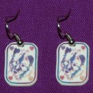 Keeshond Dog Earrings Handmade Pastel Hearts