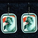 Keeshond Dog Earrings Netherlands Flag