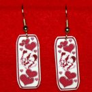 Keeshond Dog Heart Earrings Handmade
