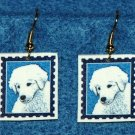 Kuvasz Puppy Dog Earrings Jewelry Handmade