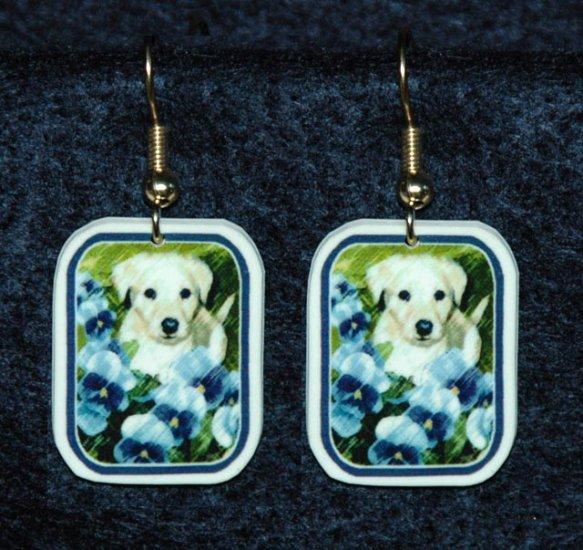 Lab Yellow Labrador Puppy Earrings Handmade