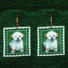Lhasa Apso Puppy Jewelry Earrings Handmade