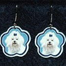 Maltese Dog Earrings Jewelry Handmade